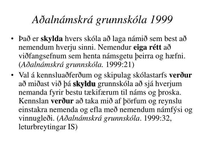 Aðalnámskrá grunnskóla 1999