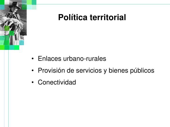 Enlaces urbano-rurales