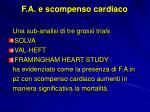 f a e scompenso cardiaco