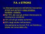 f a e stroke
