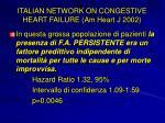 italian network on congestive heart failure am heart j 2002