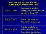 stratificazione del rischio tromboemolico in pz con fanv