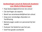 aanbevelingen vanuit de nationale academie voor media maatschappij