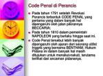 code penal di perancis
