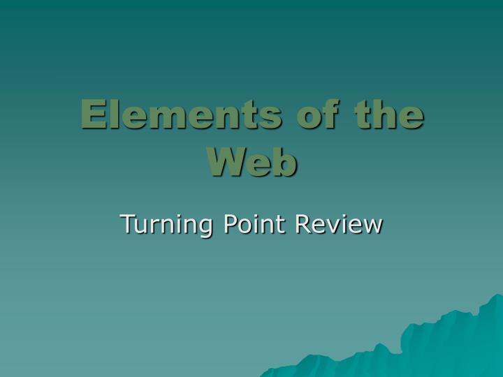 elements of the web n.