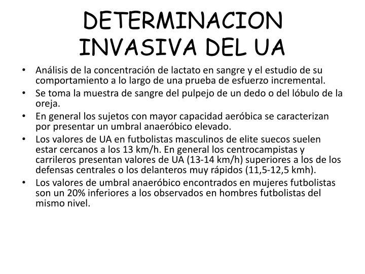 DETERMINACION  INVASIVA DEL UA