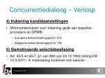 concurrentiedialoog verloop6