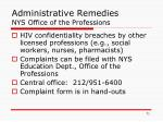 administrative remedies nys office of the professions