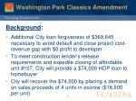 washington park classics amendment1