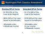 washington park classics amendment2
