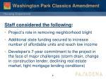 washington park classics amendment3