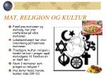 mat religion og kultur