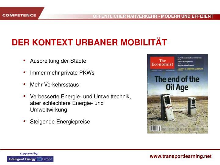 Der kontext urbaner mobilit t