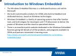 introduction to windows embedded