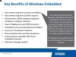 key benefits of windows embedded