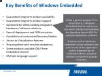 key benefits of windows embedded2