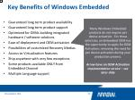 key benefits of windows embedded3