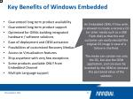 key benefits of windows embedded4