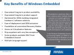 key benefits of windows embedded5