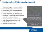 key benefits of windows embedded6