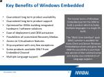 key benefits of windows embedded8