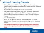 microsoft licensing channels