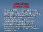 dzie zdrowia kwiecie 2008r