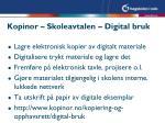 kopinor skoleavtalen digital bruk
