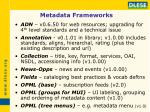 metadata frameworks