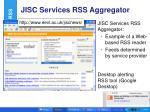jisc services rss aggregator