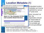 location metadata 1