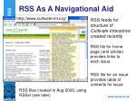 rss as a navigational aid