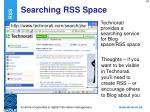 searching rss space