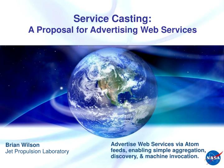 service casting a proposal for advertising web services n.