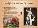 religion in written liter a ture