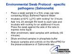 environmental swab protocol specific pathogens salmonella