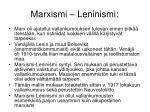 marxismi leninismi