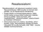 reaalisosialismi