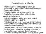 sosialismin aatteita