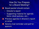 how do you prepare for a board meeting3