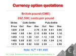 currency option quotations