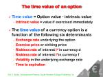 the time value of an option