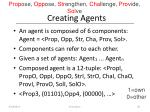 creating agents