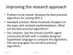 improving the research approach