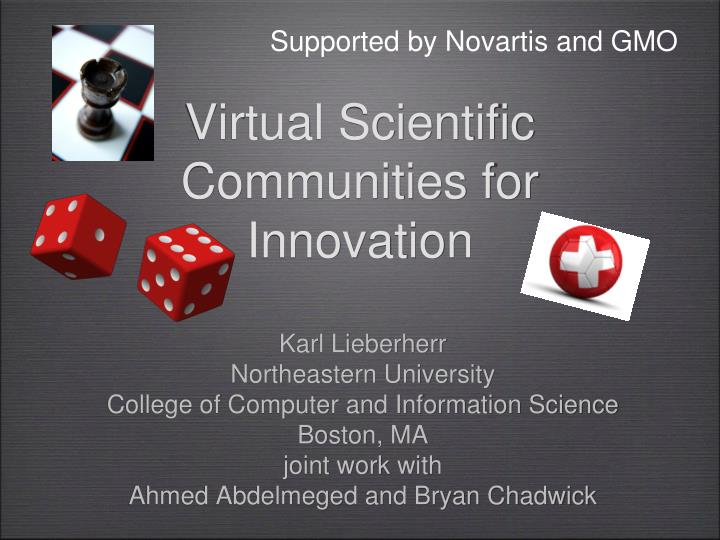 virtual scientific communities for innovation n.
