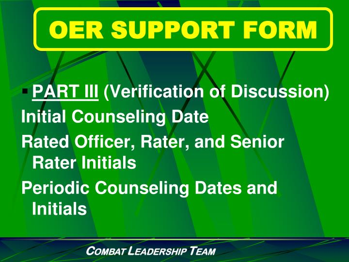 OER SUPPORT FORM