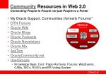 community resources in web 2 0 connecting people to people not just people to a portal
