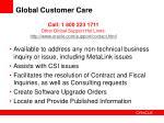 global customer care