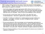 financial accountability and audit mission summation and key recommendations3