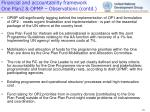 financial and accountability framework one plan2 opmp observations contd1